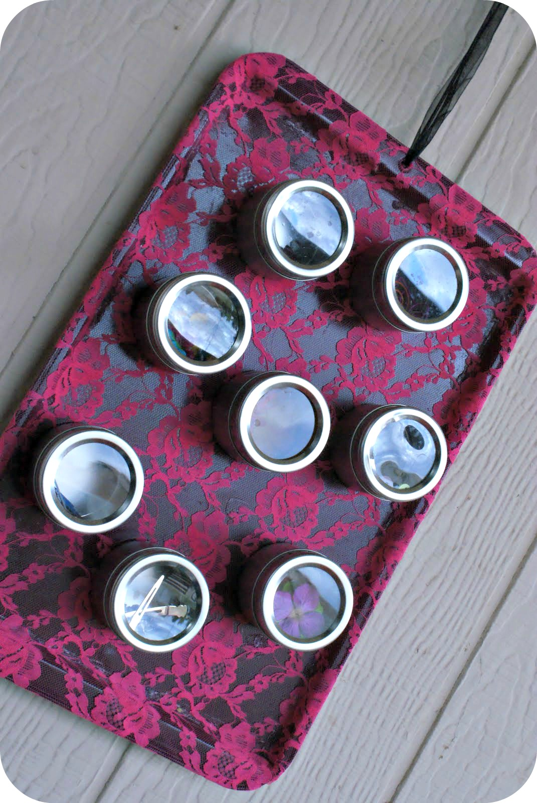 thrifty thursday  upcycled cookie sheet turned craft
