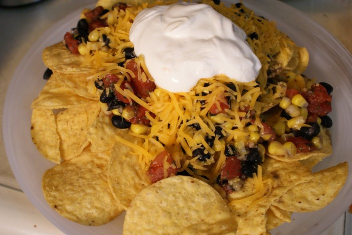 Easy Nacho Recipe w/ Black Bean Salsa