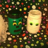 Spooky Mason Jars for Halloween