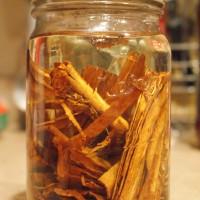 Making Cinnamon Oil for Christmas Pinecones