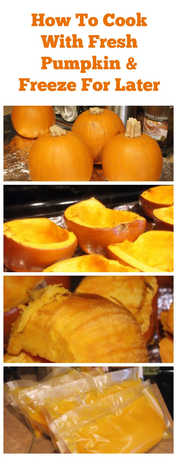 How to cook with fresh pumpkin and freeze it to use later! Just say no to canned pumpkin!