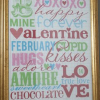 Thrifty Valentines Decor: Goodwill Picture Frame + Free Printable