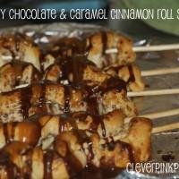 Chocolate & Caramel Cinnamon Roll Skewers Pillsbury Bake-Off #MyBlogSpark