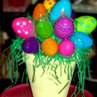 $5 Easter Egg Flower Pot Centerpiece
