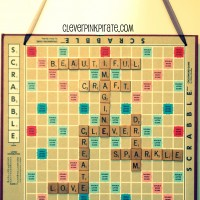 Upcycled: DIY Scrabble Wall Art for the Craft Room/Office