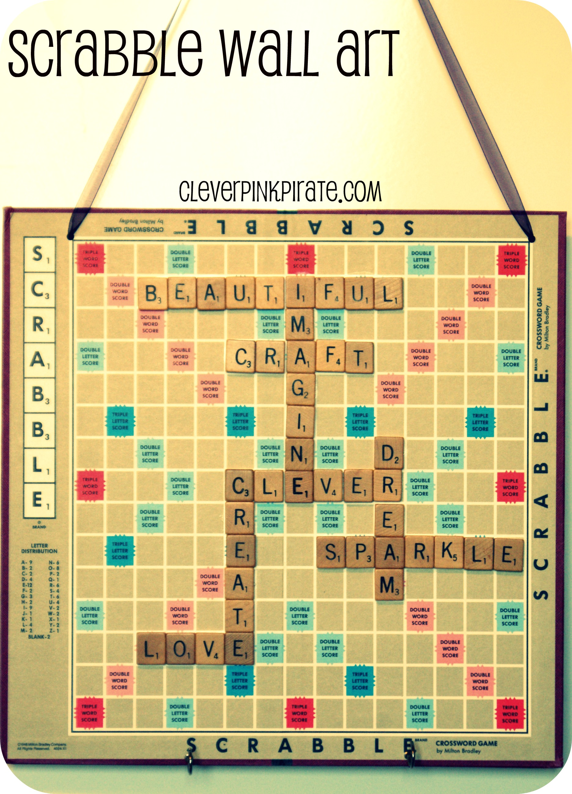 Upcycled Diy Scrabble Wall Art For The Craft Room Office
