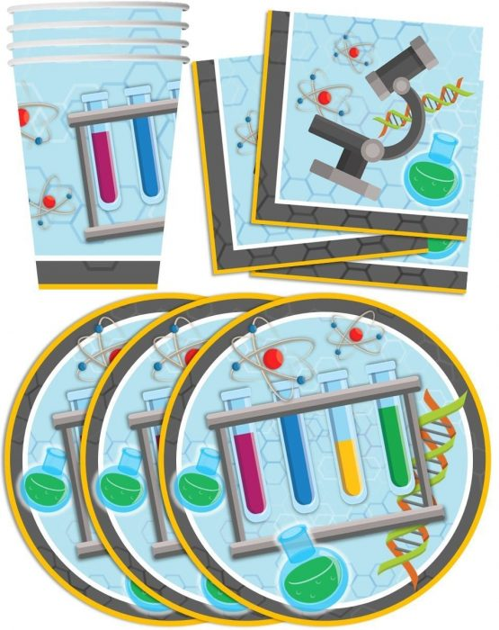 Mad Science Party Plates and Cups