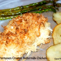 Coconut Parmesan Crusted Buttermilk Chicken Recipe