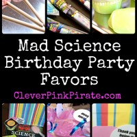 Mad Science Birthday Party: The Goodie Bags