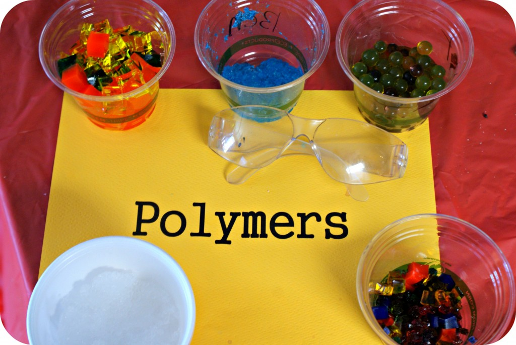 Using Polymers in a Mad Science Birthday Party with a link to purchase the kit!