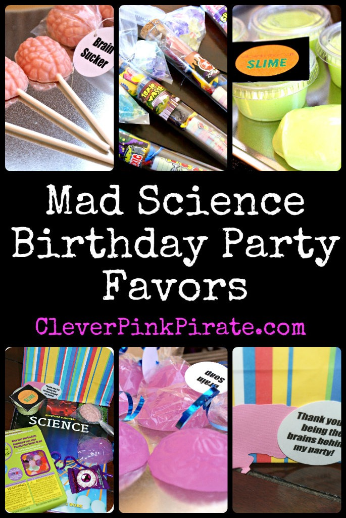 Mad Science Birthday Party Favors ~ Brain Suckers, Glow In The Dark Slime, Brain Soaps, Test Tube Candy and More!