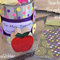 Teacher's Gift: Scrapbooking Kit with Elmer's Painters Markers #GluenGlitter