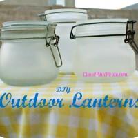 DIY: Sun Jar Pottery Barn Knock Off ~ Outdoor Lanterns