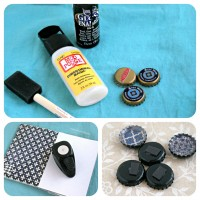 DIY Upcycled Bottle Cap Magnets