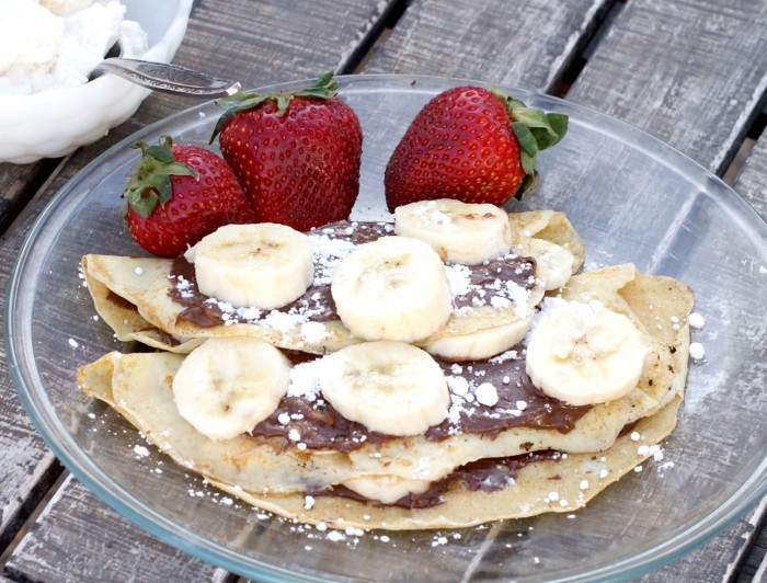 Nutella Banana Crepes Recipe