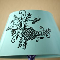 Thrifty Thursday: DIY Goodwill Lamp Makeover w/ Spraypaint & Vinyl