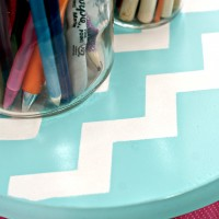 Thrifty Thursday: Upcycled Lazy Susan ~ A DIY & How To Spray Paint Chevron Shapes