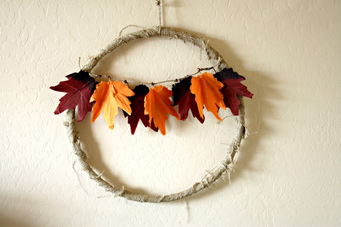 Fall Leaves Wreath - Think Crafts