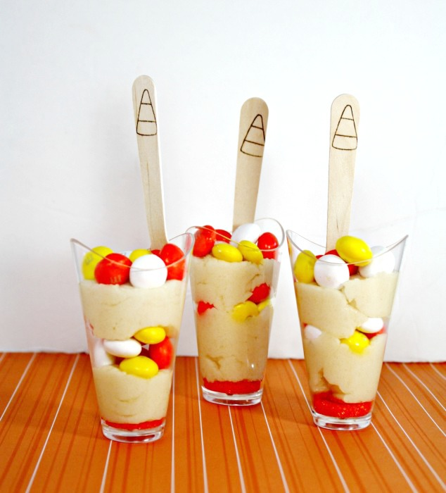 Candy Corn Cookie Dough Shooters