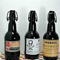 Easy Halloween DIY Arsenic Bottles for Decor & Halloween Printables