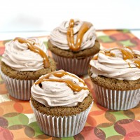 Spiced Cocoa Cupcakes w/ Chocolate Frosting & Cinnamon Butterscotch Drizzle Recipe