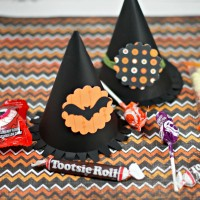 Halloween Witch Hat Treat Box via www.CleverPinkPirate.com