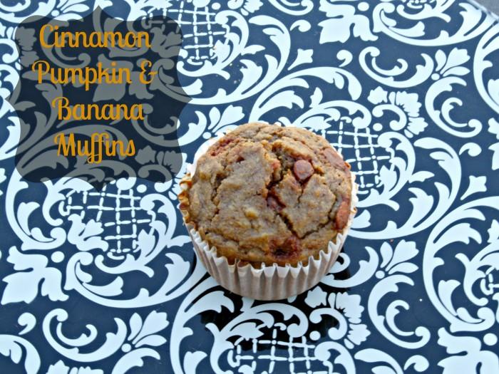 Cinnamon Pumpkin and Banana Muffins made with fresh pumpkin and banana via @CleverPirate
