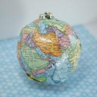 DIY Map Ornament w/ Sparkle Mod Podge via @CleverPirate