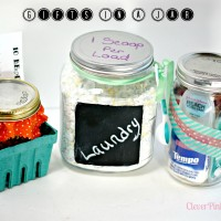 DIY: Gifts in a Jar; Homemade Laundry Soap, Soup Mix and A Bathroom in a Jar