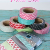 DIY Phone Case w/ Washi Tape ~ Less than $5!