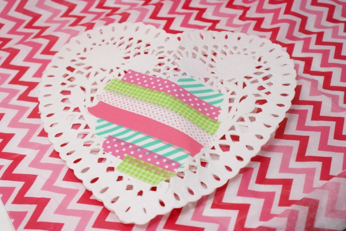 Washi Tape Valentine at ThinkCrafts.com
