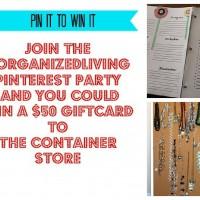 Home Organization Pinterest Party