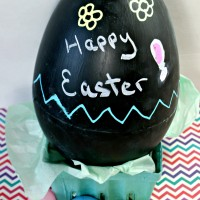 Giant ChalkBoard Easter Egg ~ Less than 15 Minutes and $5 to Make