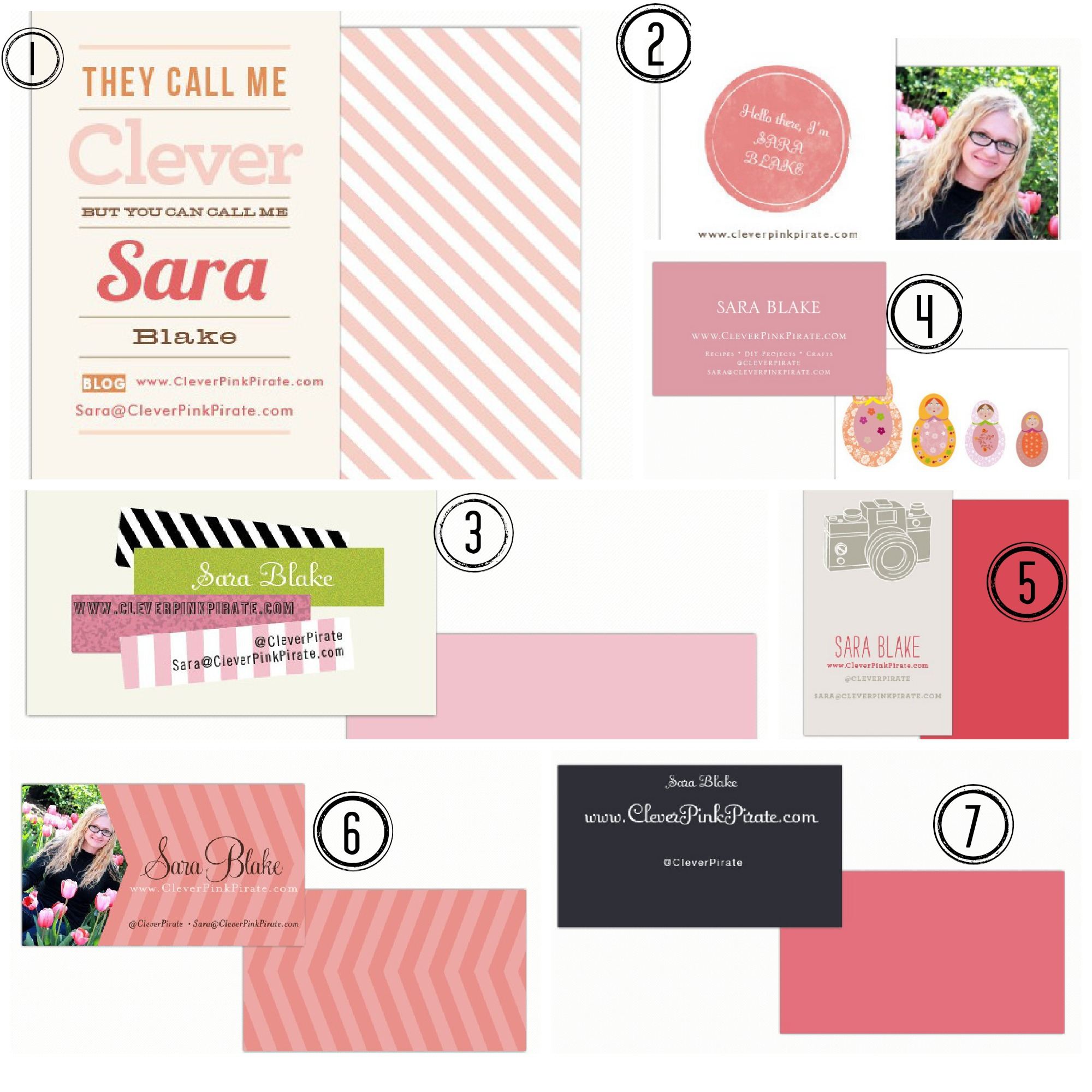Blogging Business Cards w Minted Clever Pink Pirate