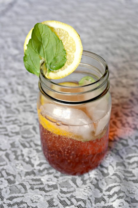 Easy Mint Lemon Cherry Italian  Soda Recipe