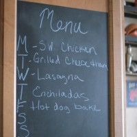 DIY: Easy Kitchen Menu Chalkboard