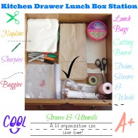 Organizing a Lunch Box Station for School Lunches