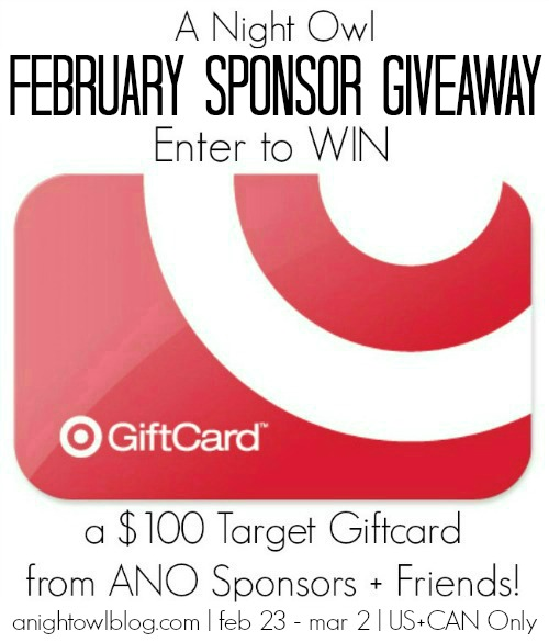 Enter to win a $100 Target Giftcard! Ends  3/2