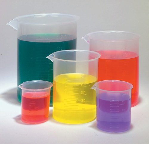 A plastic beaker set perfect for any science lover.