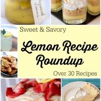 Lemon Recipe Roundup (Sweet & Savory)