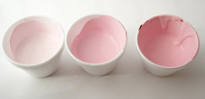 DIY Chalk Paint ~ Create a pink ombre look with paint and dye