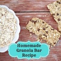 Homemade Peanut Butter Granola Bar Recipe