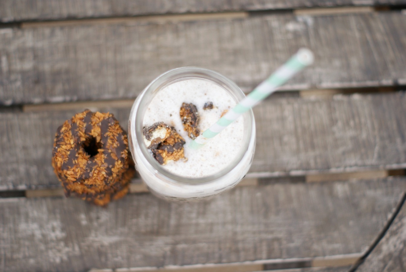 Samoa Cookie Milkshake Recipe - Clever Pink Pirate » Clever Pink ...