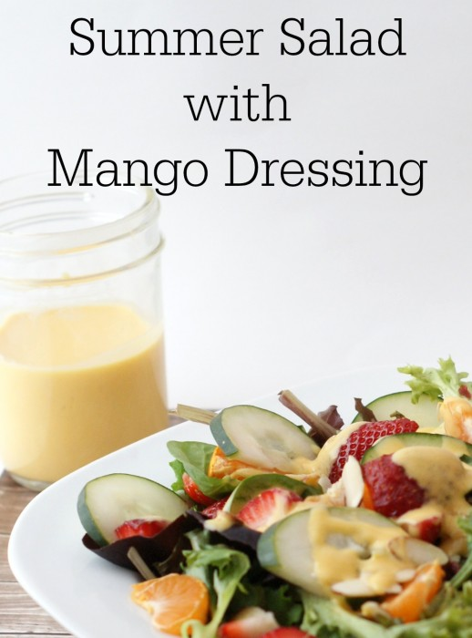 Summer Salad with Mango Dressing