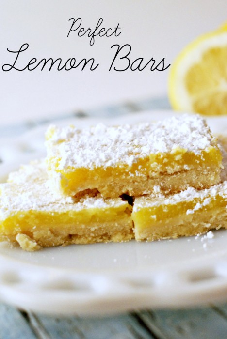 Perfect Lemon Bars ~ An easy recipe featuring real lemons!