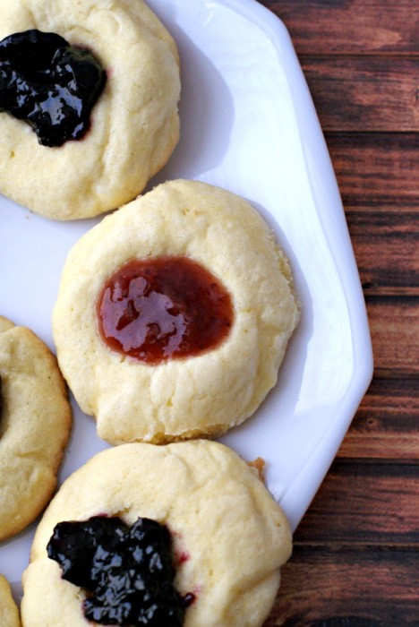Strawberry and Blueberry Jam Cookies