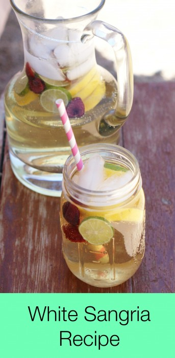 White Summer Sangria Recipe (Kid Friendly recipe too)
