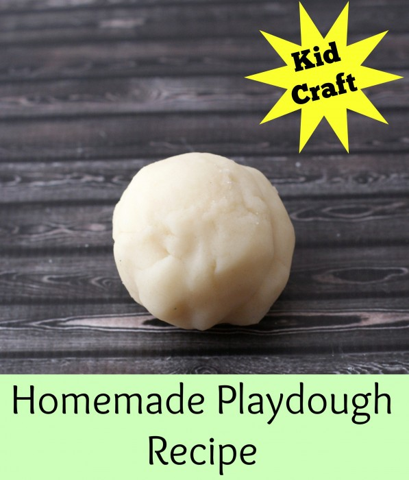 Homemade Playdough Recipe ~ Safe for kids!