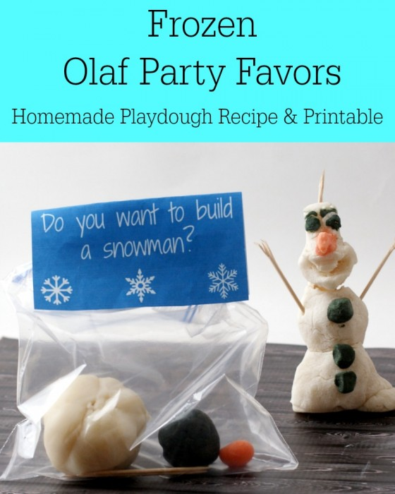 Olaf Party Favors (Homemade playdough recipe and printable)