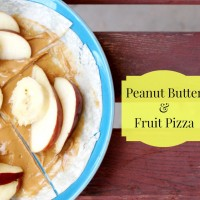 Peanut Butter & Fruit Pizza {Kids Can Cook Recipe}